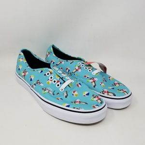 Vans Authentic Pool Vibes Aqua Sneakers Men's 7.5